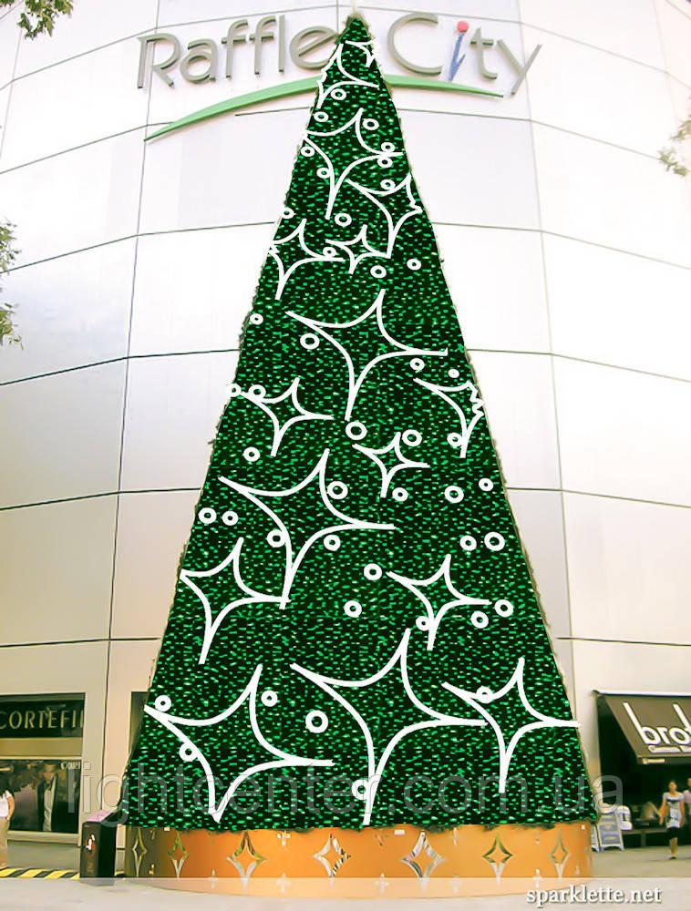 """Каркасная светодиодная городская елка """"Ель 36""""   Tree36"""