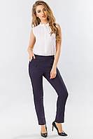 Темно-синие брюки со складками, фото 1