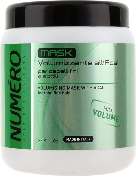 Маска для придания объема с экстрактом асаи Brelil Numero Full Volume Mask