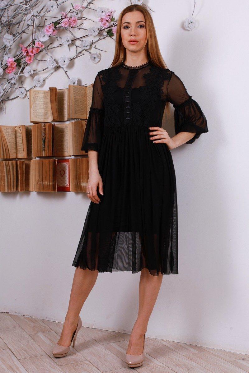 Красивое Лаконичное Черное Платье — в Категории