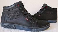 Wrangler Мужские зимние кеды ботинки натуральная кожа в спортивном стиле обувь  сапоги в стиле Вранглер черные
