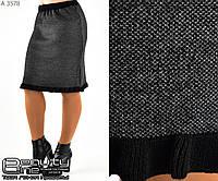 Шерстяная юбка    (размеры 44-52)  0128-26