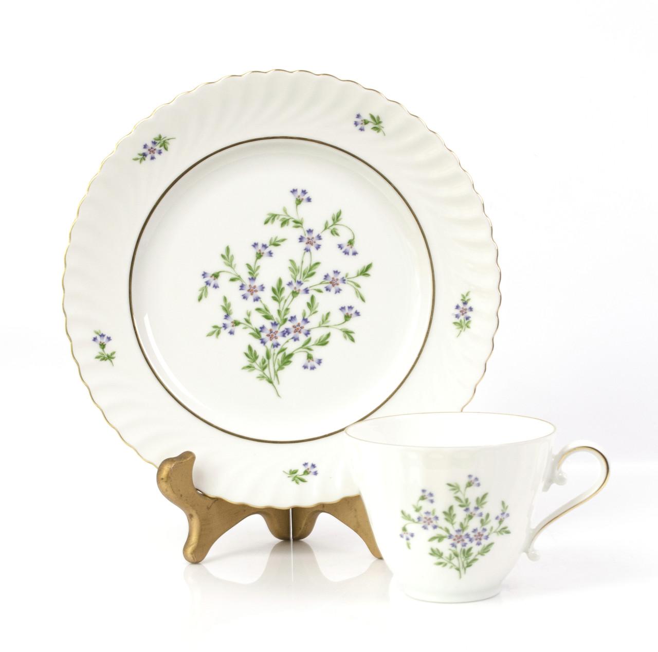 Фарфоровая чашка и десертная тарелка, Германия, Kaiser, 80-е