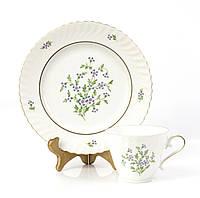 Фарфоровая чашка и десертная тарелка, Германия, Kaiser, 80-е, фото 1