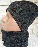 Женская шапка и снуд черного цвета  от YuLiYa Chumachenko