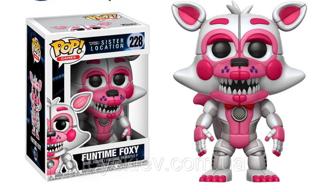 Фигурки 5 пять ночей с Фредди Funtime Foxy Funko POP Games Five Nights at Freddy's аналог