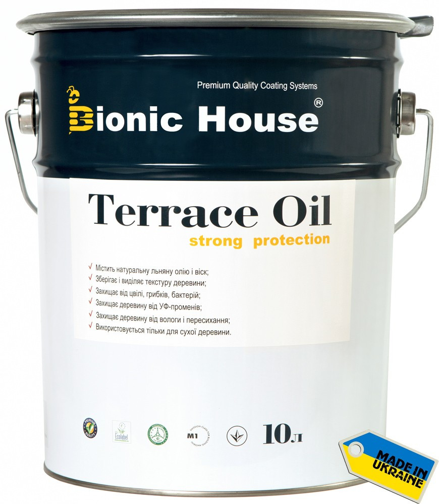 Масло для терас Terrace Oil Bionic-house 10л сірий