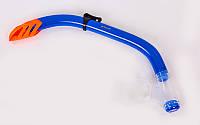 Трубка для плавания SN97 (пластик, силикон, синий-оранжевый)