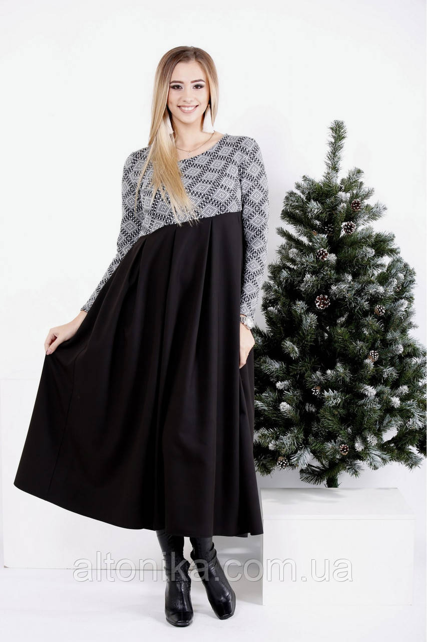 Длинное платье-клеш | 42-74