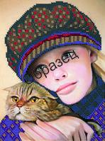 Схема для вышивки бисером «Портрет девочки»