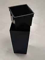 ГОРЩИК ПЛАСТМАСОВИЙ З ВКЛАДОМ URBI SQUARE, 26x26 см, висота 50 см колір антрацит