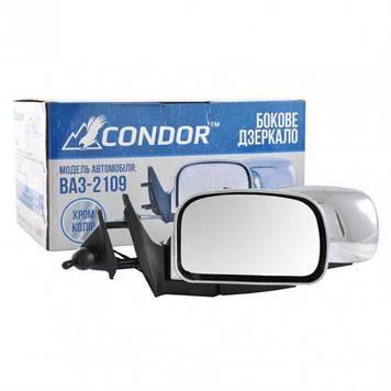 Бічні дзеркала ВАЗ 2109 / ВАЗ 2108 / ВАЗ2113 /ВАЗ 2114 /ВАЗ 2115 хром Condor K1094 (кт.)