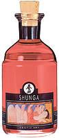 Разогревающее и съедобное масло для ИНТИМНЫЕ ПОЦЕЛУИ Shunga  - APHRODISIAC OIL CHAMPAGNE & STRAWBERR