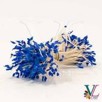 Тычинки бархатные на нитке Синий  за 1 шт Vlaber