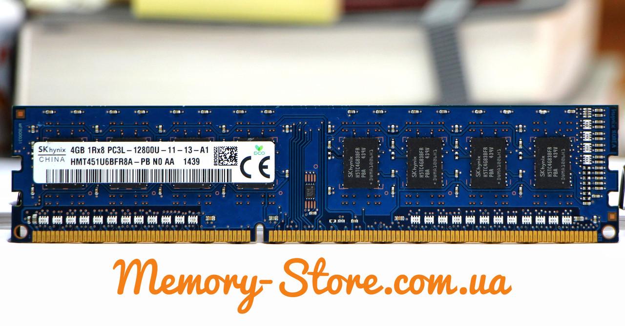 Оперативная память для ПК Hynix DDR3 4Gb 1Rx8 PC3L-12800 1600MHz, Intel и AMD, б/у