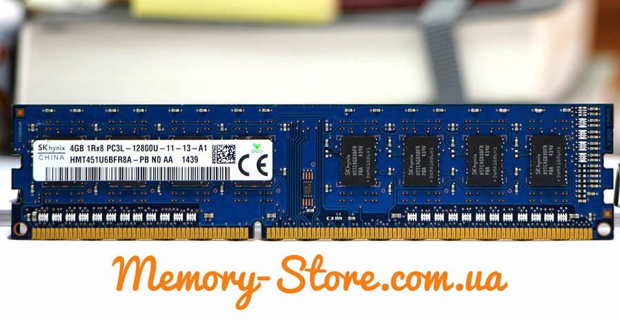 Оперативная память для ПК Hynix DDR3 4Gb 1Rx8 PC3L-12800 1600MHz, Intel и AMD, б/у, фото 2