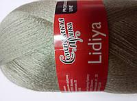 Пряжа Семеновская пряжа Lidiya (Лидия) серый мох СП
