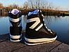 Женские зимние дутики на шнурках черные, фото 3