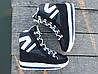 Женские зимние дутики на шнурках черные, фото 5