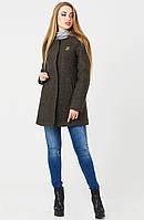 """Пальто """"Хелен"""" зима, шанель/темно-зеленый"""