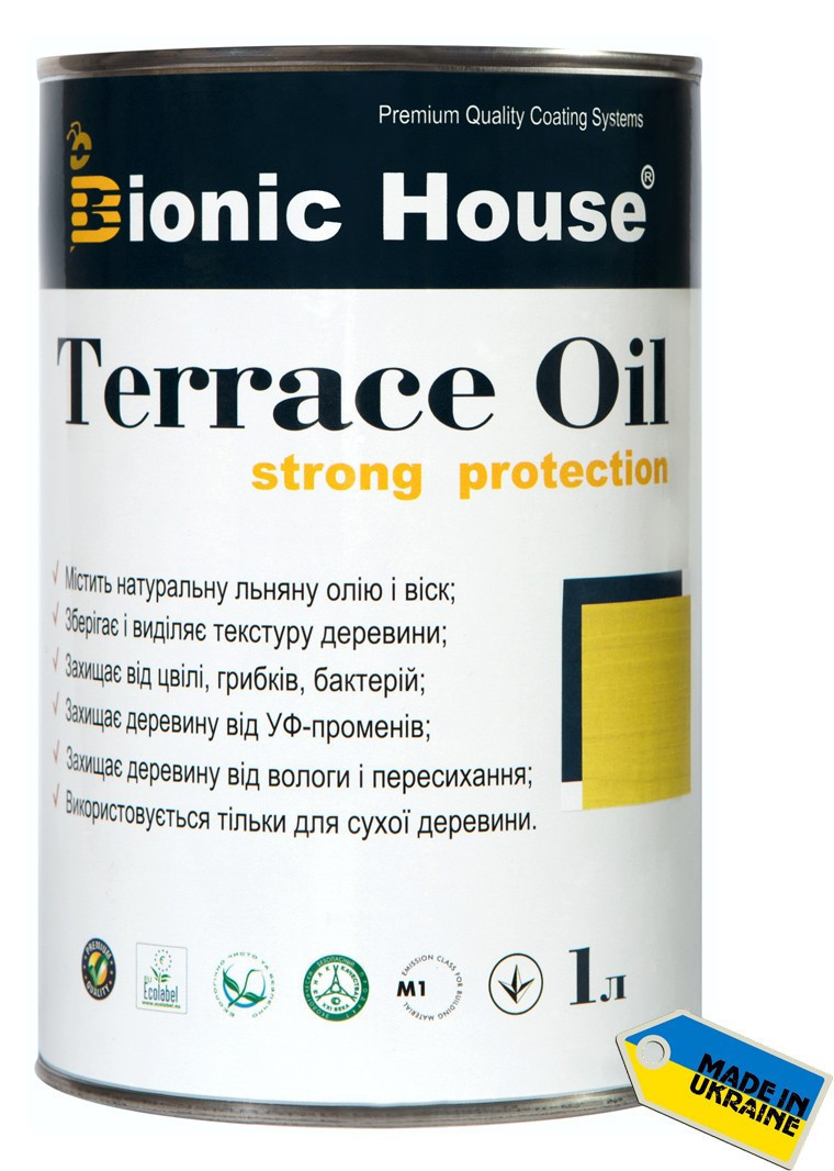Масло для террас Terrace Oil Bionic-house 1л в черный