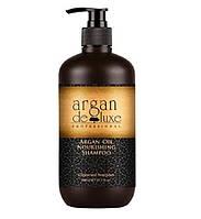 Питательный шампунь с маслом арганы De Luxe Professional Argan Oil Nourishing Shampoo 300 ml