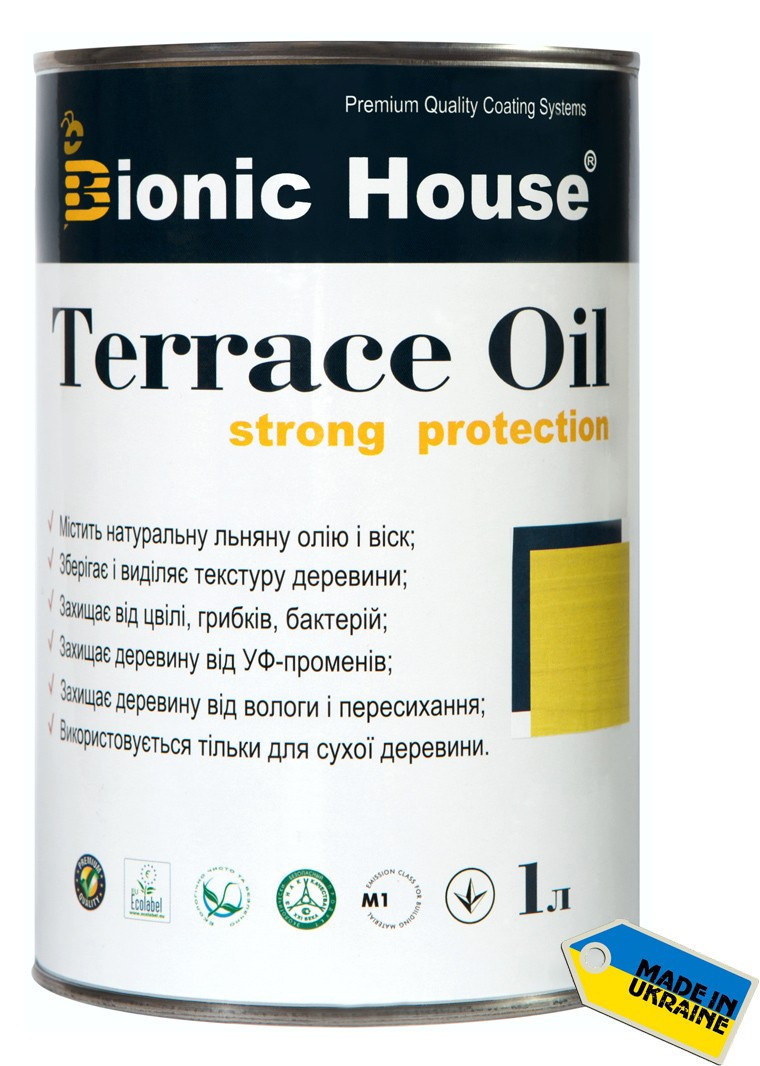 Масло для террас Terrace Oil Bionic-house 1л в Белый