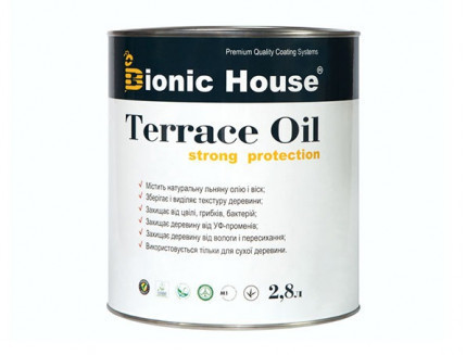 Масло для террас Terrace Oil Bionic-house 2,8л в Палисандр