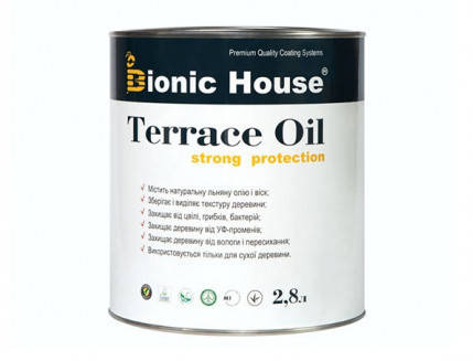 Масло для террас Terrace Oil Bionic-house 2,8л в Белый