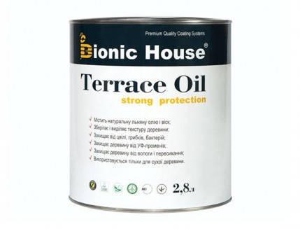 Масло для террас Terrace Oil Bionic-house 2,8л Миндаль