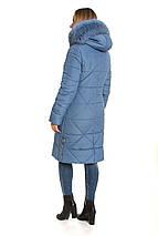 Зимний женский пуховик  с песцом 42 44 46 джинс, фото 2