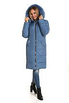 Зимний женский пуховик  с песцом 42 44 46 джинс, фото 3