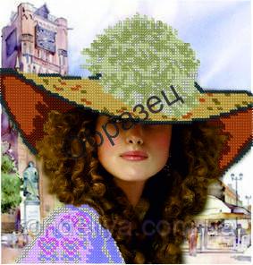 Схема для вышивки бисером «Женщина-загадка»