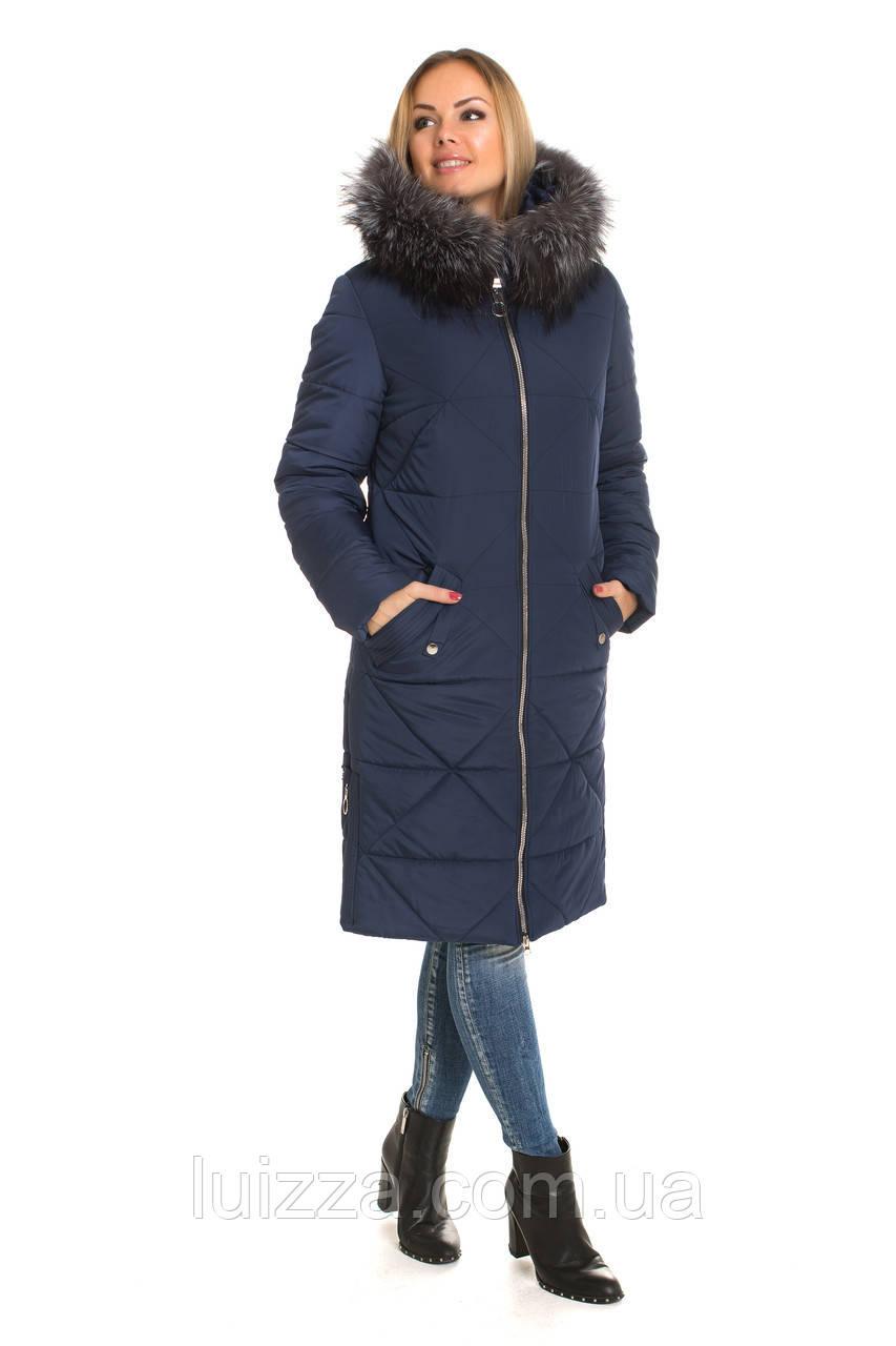 Женские пуховики от производителя с натуральным мехом 42-60р - Luizza-Луиза  женская одежда f761b9d0772