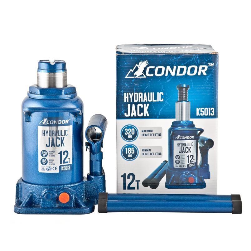 Домкрат бутылочный 12т 185/320мм коробка CONDOR  K5013