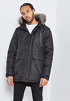 Парка\куртка D-Struct - Hecto 2 черная с меховой отделкой (мужская/чоловіча) Зима