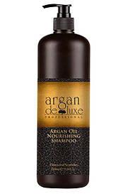 Питательный шампунь с маслом арганы De Luxe Professional Argan Oil Nourishing Shampoo 1000 ml