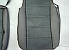Чехлы на сиденья ЗАЗ Таврия Славута (ZAZ Tavria Slavuta) (модельные, экокожа Аригон+Алькантара, отдельный подголовник), фото 5