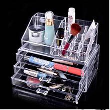 Пластиковий органайзер-комод дворівневий для косметики та аксесуарів
