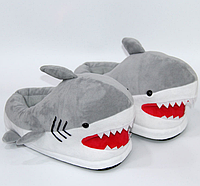 Тапочки-игрушки серые Акулы,36-41