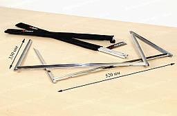 Стойки для гриля Скаут 0700 из нержавеющей стали сборно-разборные с чехлом 52x33x33 см