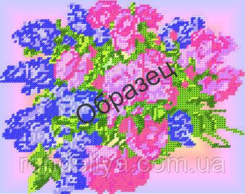 Схема для вышивки бисером «Розы и сирень»