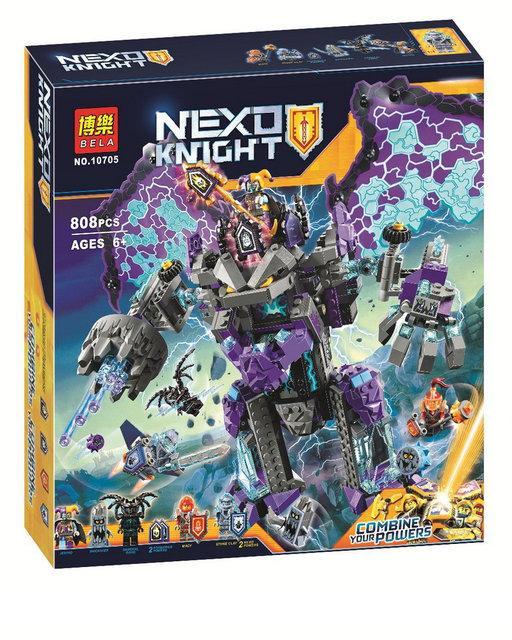 """Конструктор Bela 10705 """"Каменный великан разрушитель"""", 808 деталей. Аналог Lego Nexo Knights 70356"""