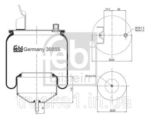 Подушка амортизуюча  39855 (FEBI)