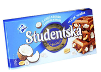 Шоколад Orion Studentska молочний з кокосом 180 г