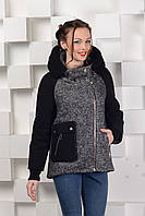Пальто-куртка твидовое, фото 1