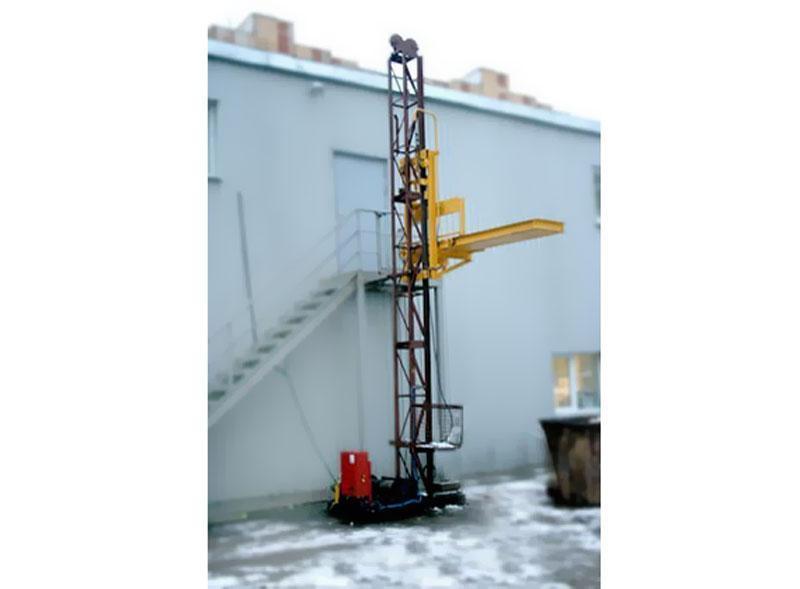 Грузовой подъемник-подъёмники мачтовый-мачтовые, строительные г/п-2000 кг, 2 тонны. Высота подъёма, м 57