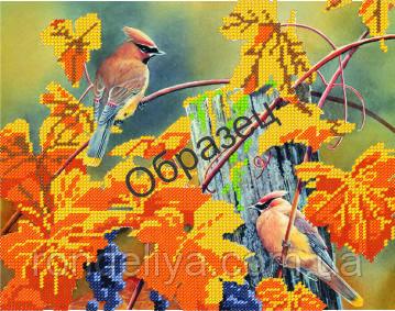 Схема для вышивки бисером «Осенняя капель»