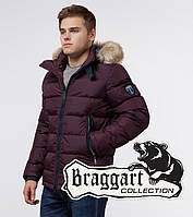 Braggart 'Aggressive' 18540   Куртка мужская с опушкой т-бордовая, фото 1