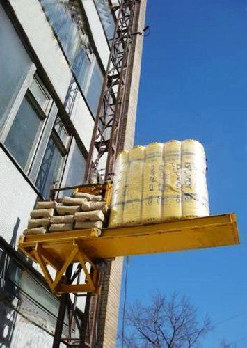 Грузовой подъемник-подъёмники мачтовый-мачтовые, строительные г/п-2000 кг, 2 тонны. Высота подъёма, м 53